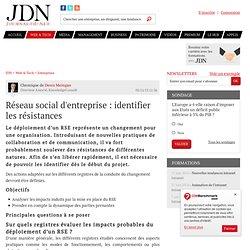 Réseau social d'entreprise: identifier les résistances