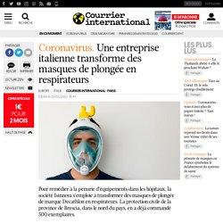 Une entreprise italienne transforme des masques de plongée en respirateurs
