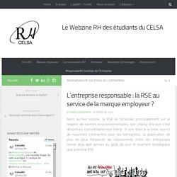 L'entreprise responsable : la RSE au service de la marque employeur