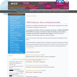 MOOC Gérer une entreprise sans salarié