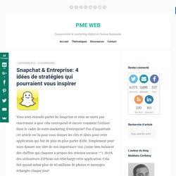 Snapchat & Entreprise: 4 idées de stratégies qui pourraient vous inspirer