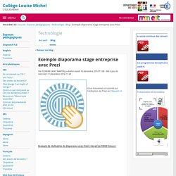 Exemple diaporama stage entreprise avec Prezi - Technologie - COLLEGE LOUISE MICHEL