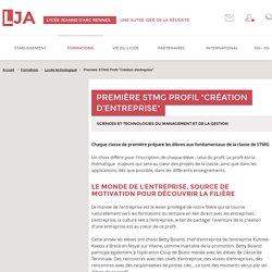 """Première STMG Profil """"Création d'entreprise"""" - Lycée technologique - Lycée Jeanne d'Arc"""