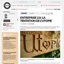 Entreprise 2.0: la tentation de l'utopie » Article » OWNI, Digital Journalism