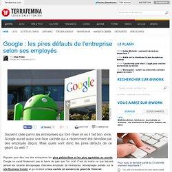 Google : les pires défauts de l'entreprise selon ses employés