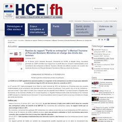 """Remise du rapport """"Parité en entreprise"""" à Marisol Touraine et Pascale Boistard, Ministres en charge des droits des femmes"""