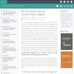De l'Entreprise 2.0 à la transformation digitale