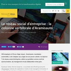 Le réseau social d'entreprise: la colonne vertébrale d'Aramisauto