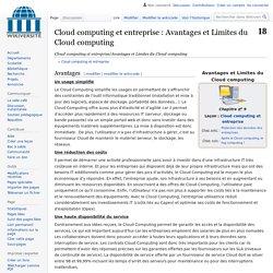 Cloud computing et entreprise/Avantages et Limites du Cloud computing — Wikiversité