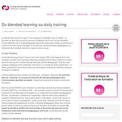 Du blended learning au daily training