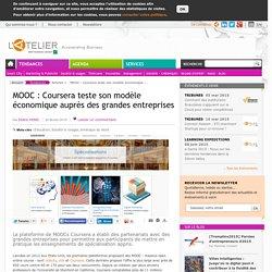 MOOC : Coursera teste son modèle économique auprès des grandes entreprises