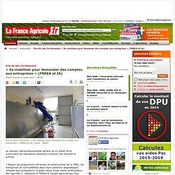 Prix du lait/3e trimestre: « Se mobiliser pour demander des comptes aux entreprises » (FNSEA et JA) - Actualités - La France Agricole, toute l agriculture et l information agricole