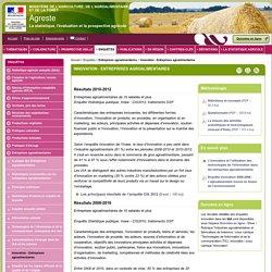 MAAF AGRESTE - Innovation - Entreprises agroalimentaires - Résultats 2008-2010