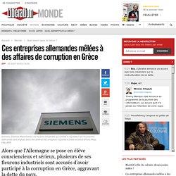 Ces entreprises allemandes mêlées à des affaires de corruption en Grèce
