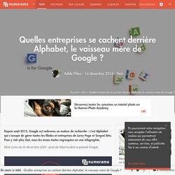 [Infographie] Qu'est-ce qui se cache derrière Alphabet, le vaisseau mère de Google ? - Tech