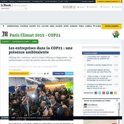 Les entreprises dans la COP21: une présence ambivalente