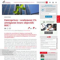 Entreprises : seulement 2% atteignent leurs objectifs RSE !