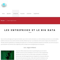 Entreprises - Big data