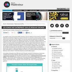 Les usages des entreprises sur les réseaux sociaux - Blog du mod