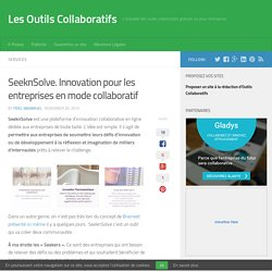 SeeknSolve. Innovation pour les entreprises en mode collaboratif