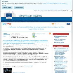 EU - Conférence Industrie Textile Pays Méditerranée