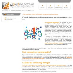 L'intérêt du Community Management pour les entreprises