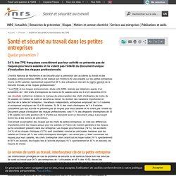 Santé et sécurité au travail dans les petites entreprises - Communiqué de presse