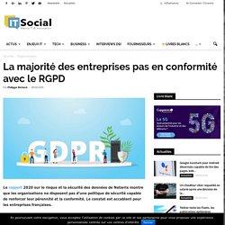 La majorité des entreprises pas en conformité avec le RGPD -