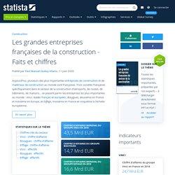 Les grandes entreprises françaises de la construction - Faits et chiffres