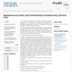 Panorama sectoriel des entreprises coopératives, édition 2016