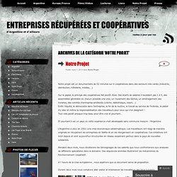 Entreprises récupérées et coopératives