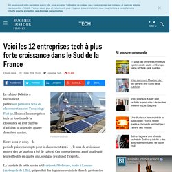Voici les 12 entreprises tech à plus forte croissance dans le Sud de la France - Business Insider France