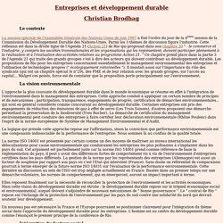 Entreprises et développement durable