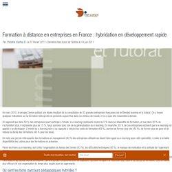 Formation à distance en entreprises en France : hybridation en développement rapide