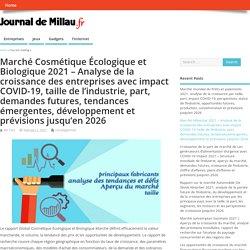 Marché Cosmétique Écologique et Biologique 2021 – Analyse de la croissance des entreprises avec impact COVID-19, taille de l'industrie, part, demandes futures, tendances émergentes, développement et prévisions jusqu'en 2026