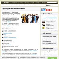 Conditions de travail dans les entreprises et développement durable