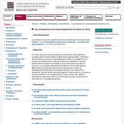 Entreprises - Entreprises et développement durable 2011