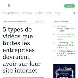 5 types de vidéos que toutes les entreprises devraient avoir sur leur site internet - Wix.com