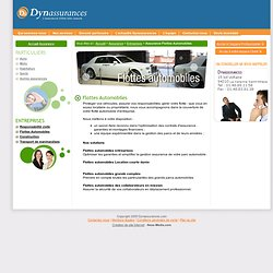 Assurance : Espace Entreprises - Assurance Flottes Automobiles - Dynassurances