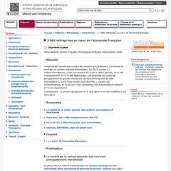 Entreprises - 3 000 entreprises au cœur de l'économie française