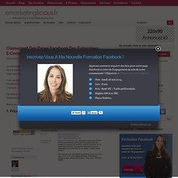 Classement Des Pages Facebook Des Entreprises E-Commerce Les Plus Visitées En France