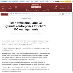 Economie circulaire: 33 grandes entreprises affichent 100 engagements