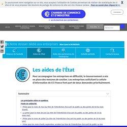 Les aides mises en place pour les entreprises et les entrepreneurs - CCI.fr - 30 septembre 2020