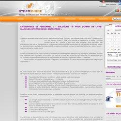 Entreprises et Personnel : « Solutions TIC pour définir un Livret d'Accueil Interne dans l'Entreprise » - Actualités TIC