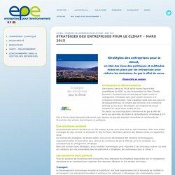 Stratégies des entreprises pour le climat - mars 2015