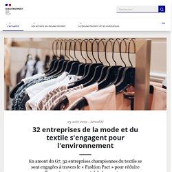 32 entreprises de la mode et du textile s'engagent pour l'environnement