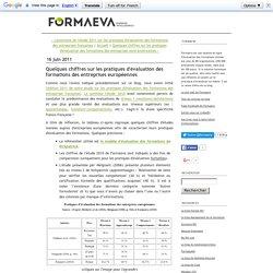 Quelques chiffres sur les pratiques d'évaluation des formations des entreprises européennes