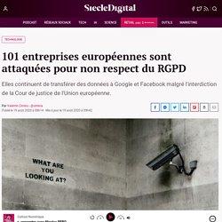 101 entreprises européennes sont attaquées pour non respect du RGPD