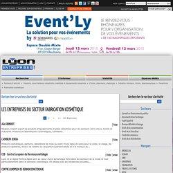 Liste des entreprises dans le secteur Fabrication cosmétique sur Lyon Entreprises