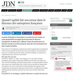Quand l'agilité fait son retour dans le discours des entreprises françaises